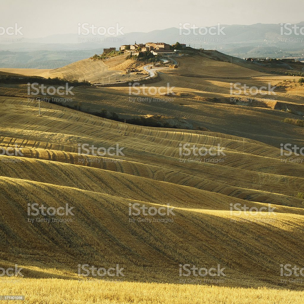 Tuscany Italy, landscape of the Chianti region royalty-free stock photo
