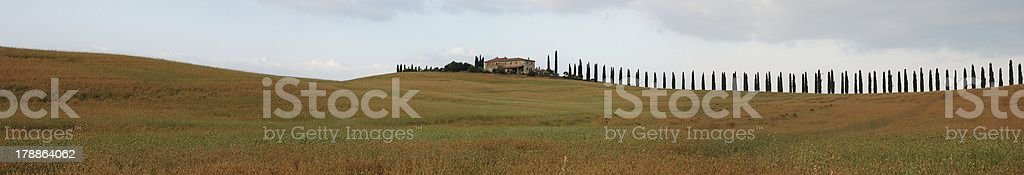 Tuscany landscape at summer royalty-free stock photo