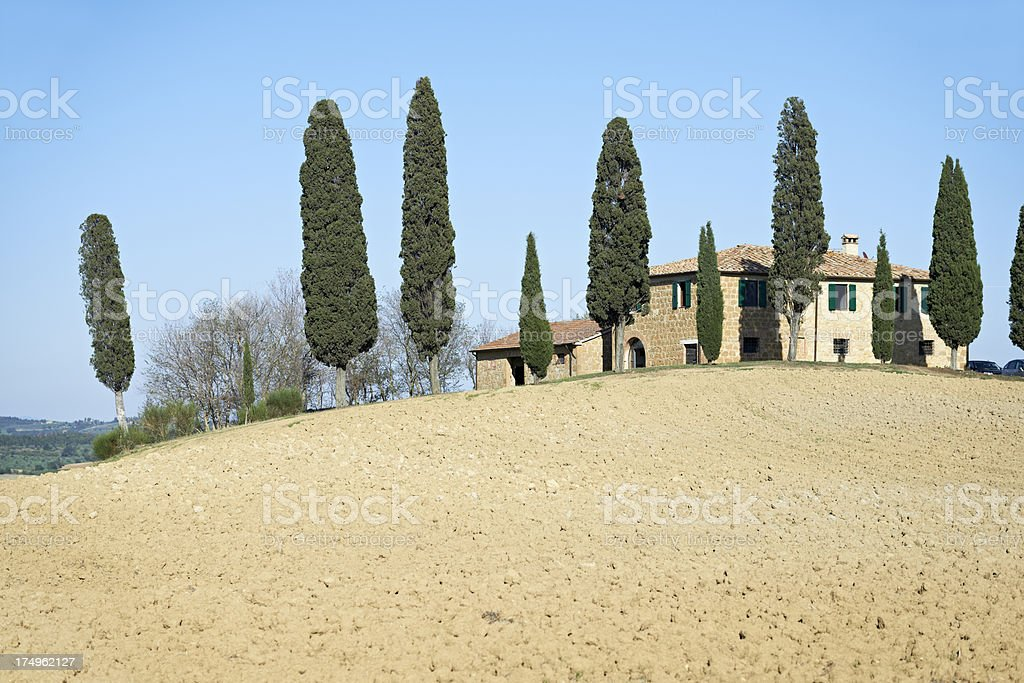 Tuscany landscape close to San Quirico d´Orcia, Italy. royalty-free stock photo