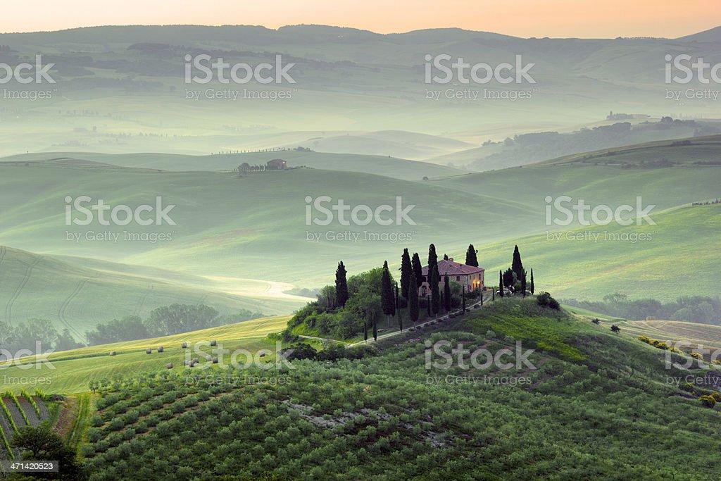 Tuscany landscape,  Italy stock photo