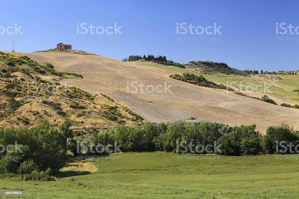 Tuscany landscape of Val d'Orcia, Italy. royalty-free stock photo