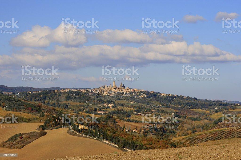 Tuscany landscape - San Gimignano royalty-free stock photo