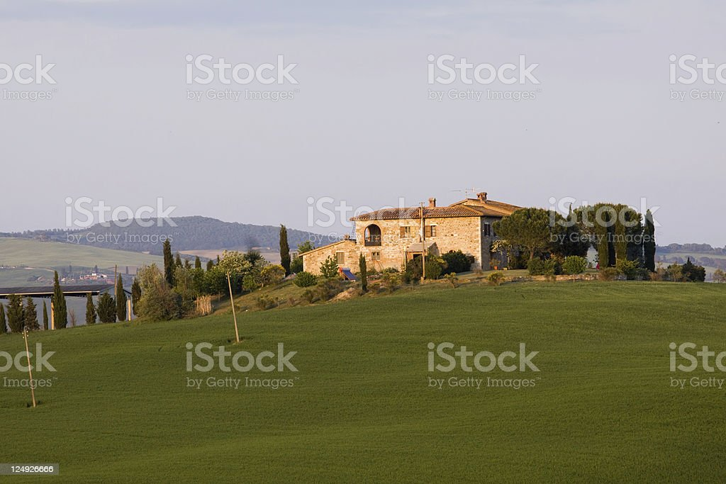 tuscany landscapes royalty-free stock photo