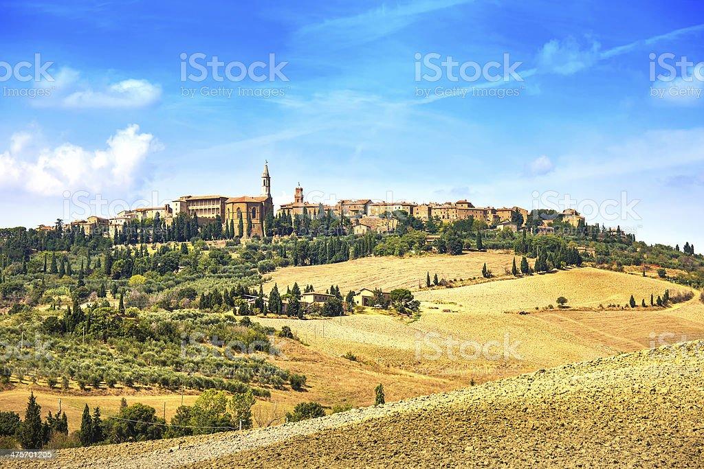 Tuscany, Pienza medieval village. Siena, Val d Orcia, Italy stock photo