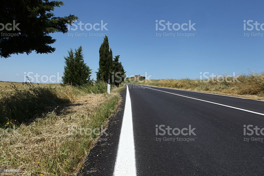 Tuscany road royalty-free stock photo