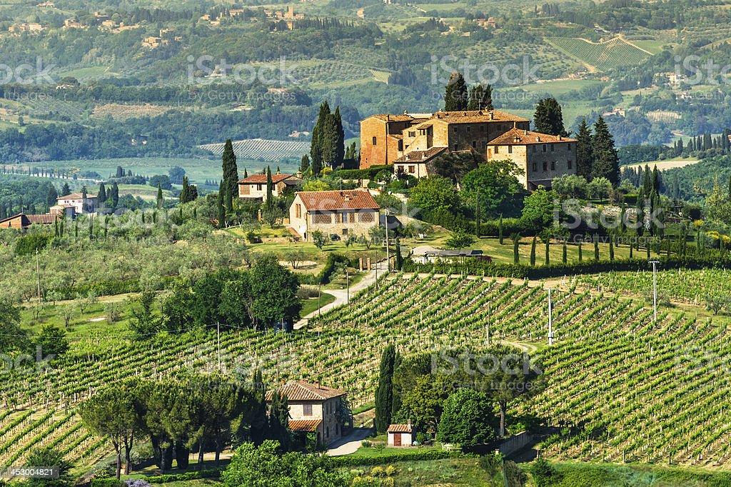 Tuscany rural landscape stock photo
