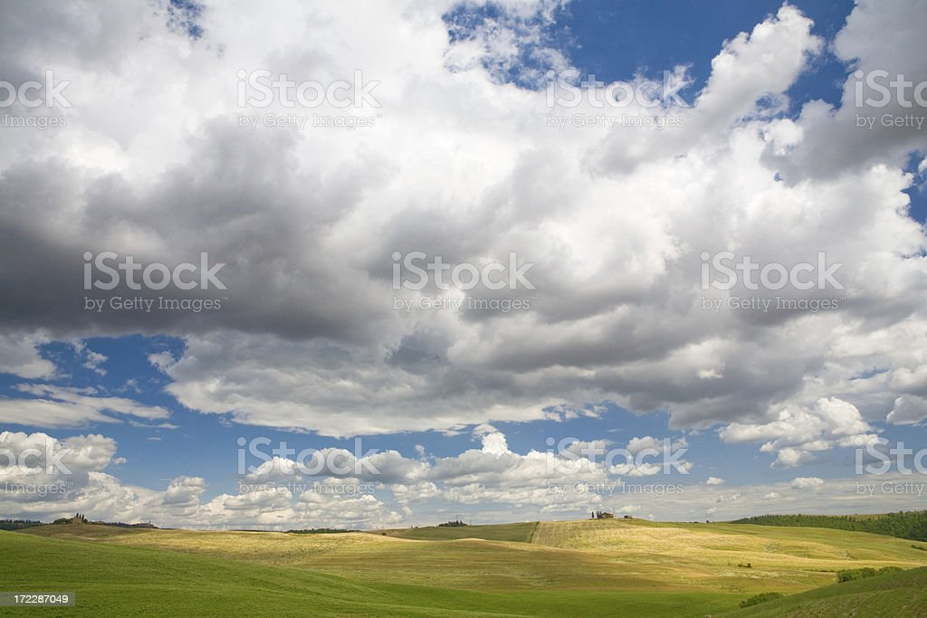 tuscany sky II royalty-free stock photo