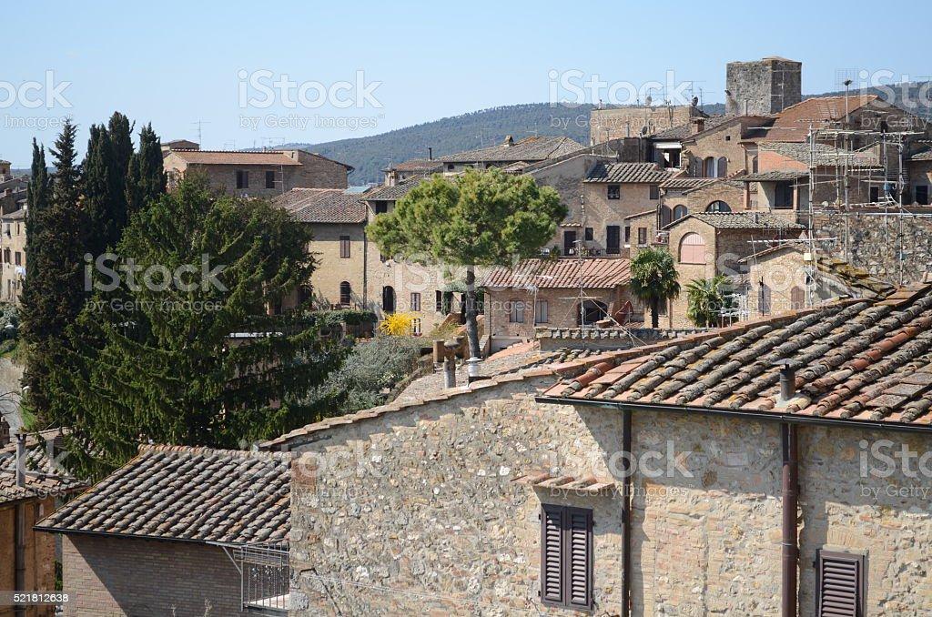 Tuscany skyline stock photo