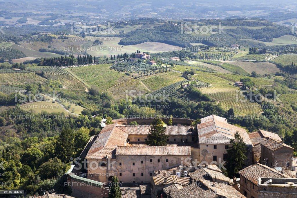 Tuscany street views stock photo