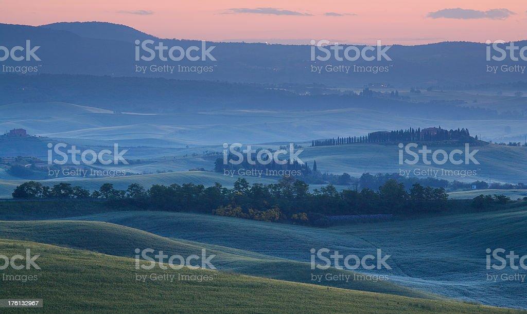 tuscany sunrise royalty-free stock photo