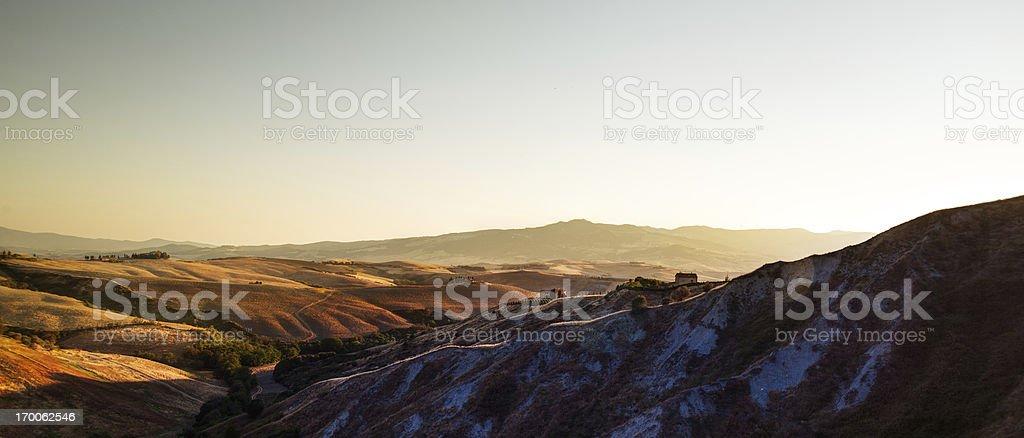 Tuscany sunset royalty-free stock photo