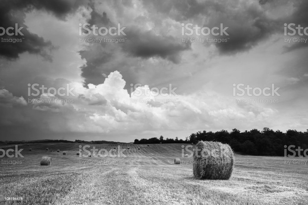 tuscany thunderstorm royalty-free stock photo