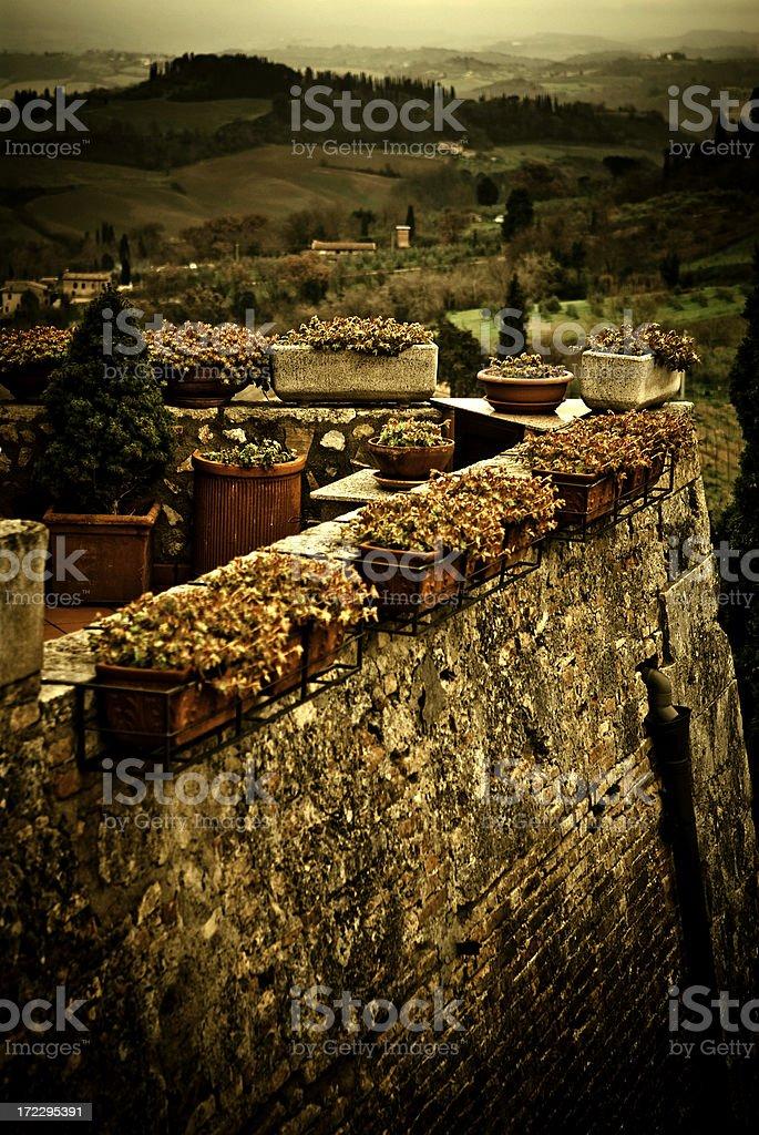 tuscany town stock photo