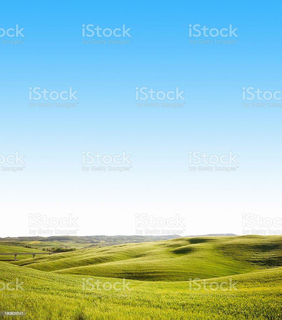 Tuscany val d'orcia landscape royalty-free stock photo