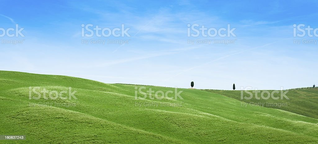 Tuscany val d'orcia landscape stock photo