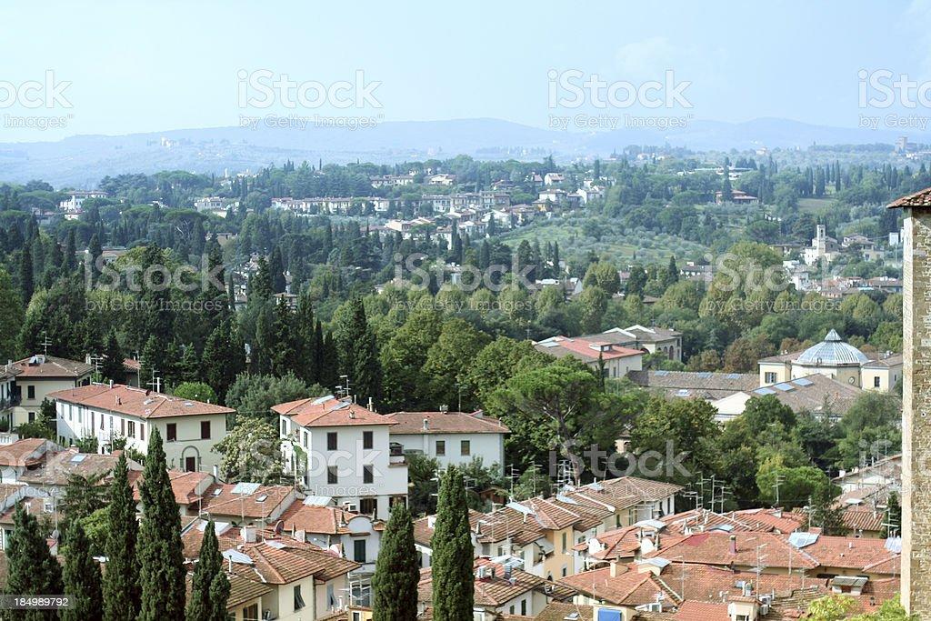 Tuscany view stock photo
