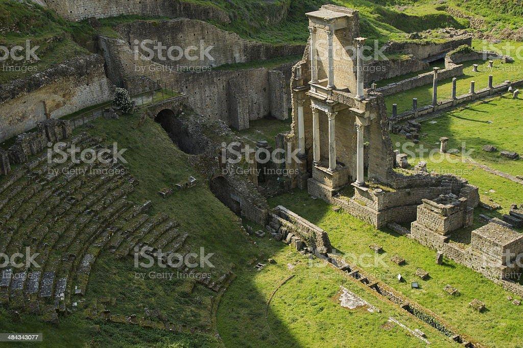 Tuscany, Volterra Roman Teathre stock photo