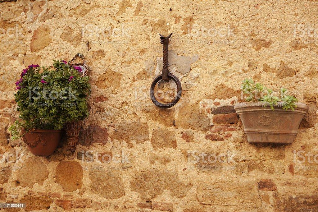 Tuscany wall stock photo
