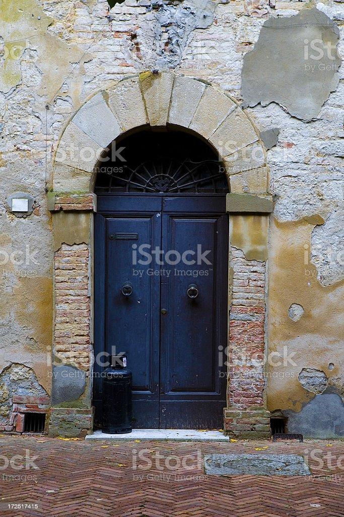 tuscnay door royalty-free stock photo