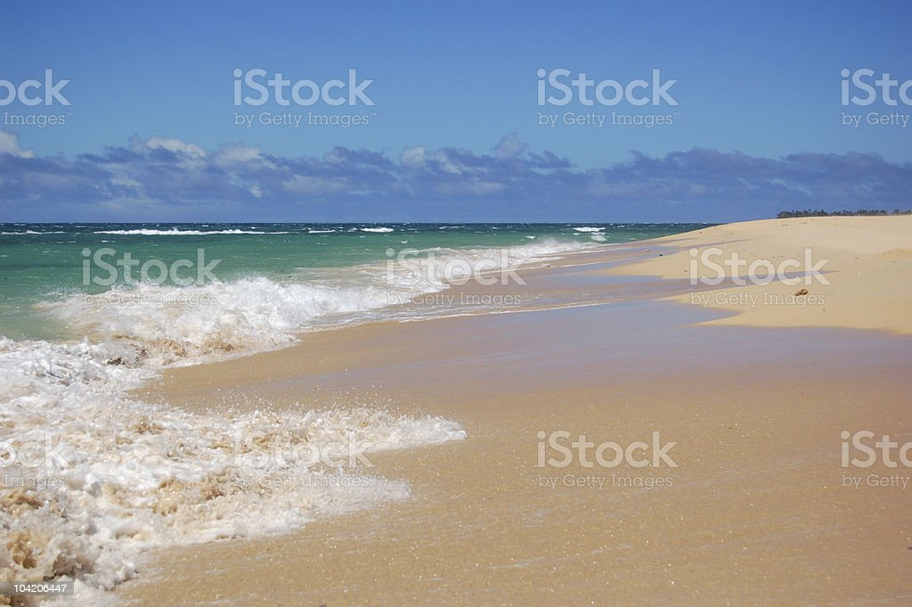 Tussling waves stock photo