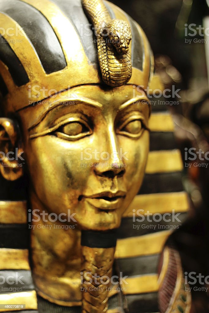 Tutankhamun Face stock photo