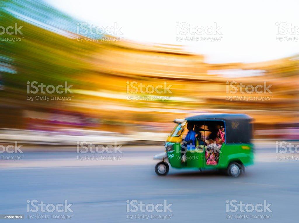 Tutk tuk Taxi India stock photo