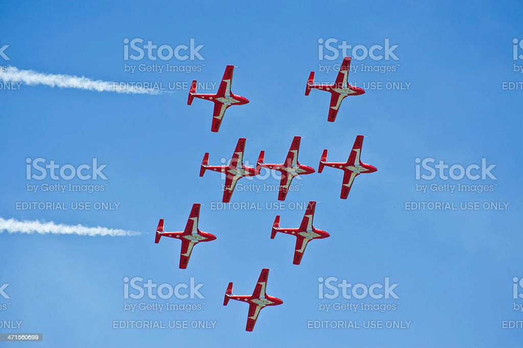 Tutor jets in formation stock photo
