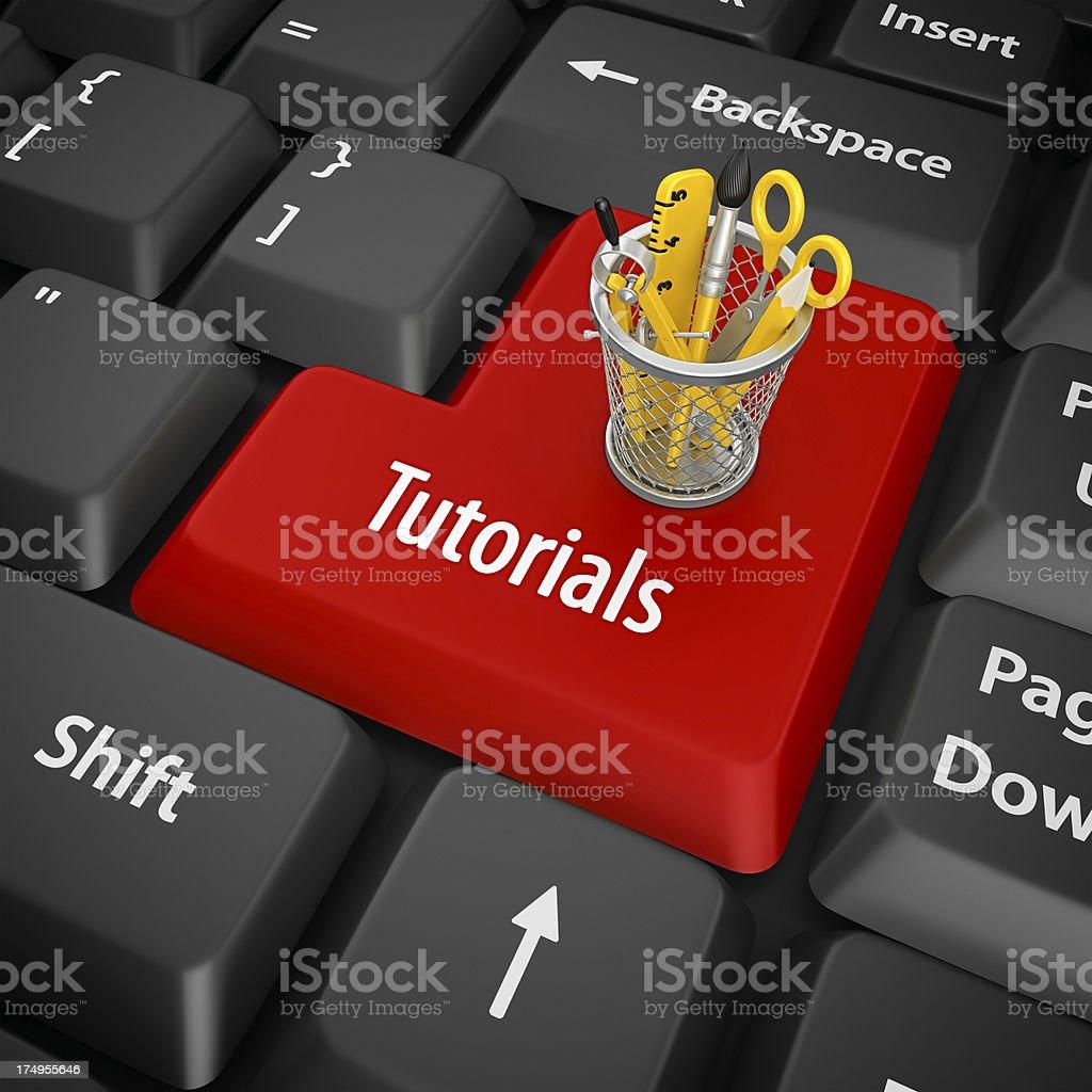 tutorials enter key stock photo