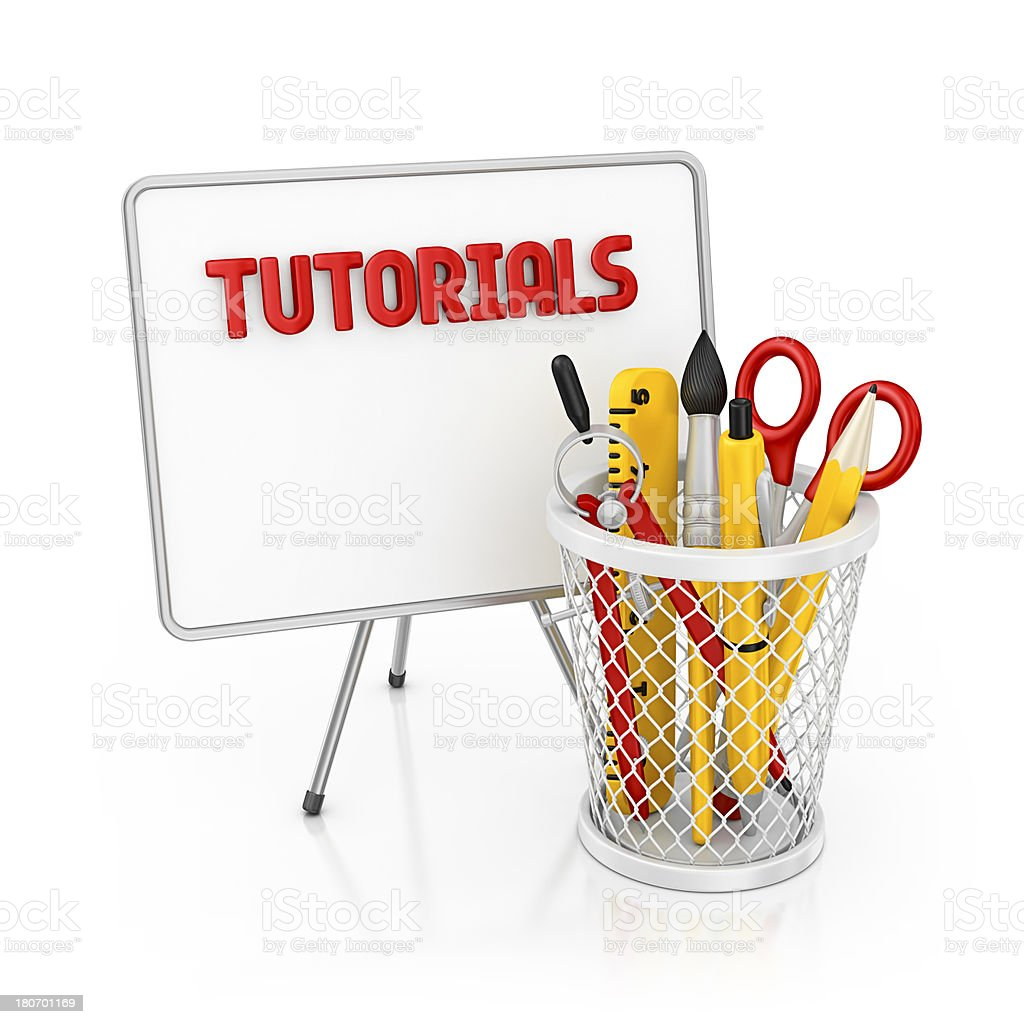 tutorials royalty-free stock photo