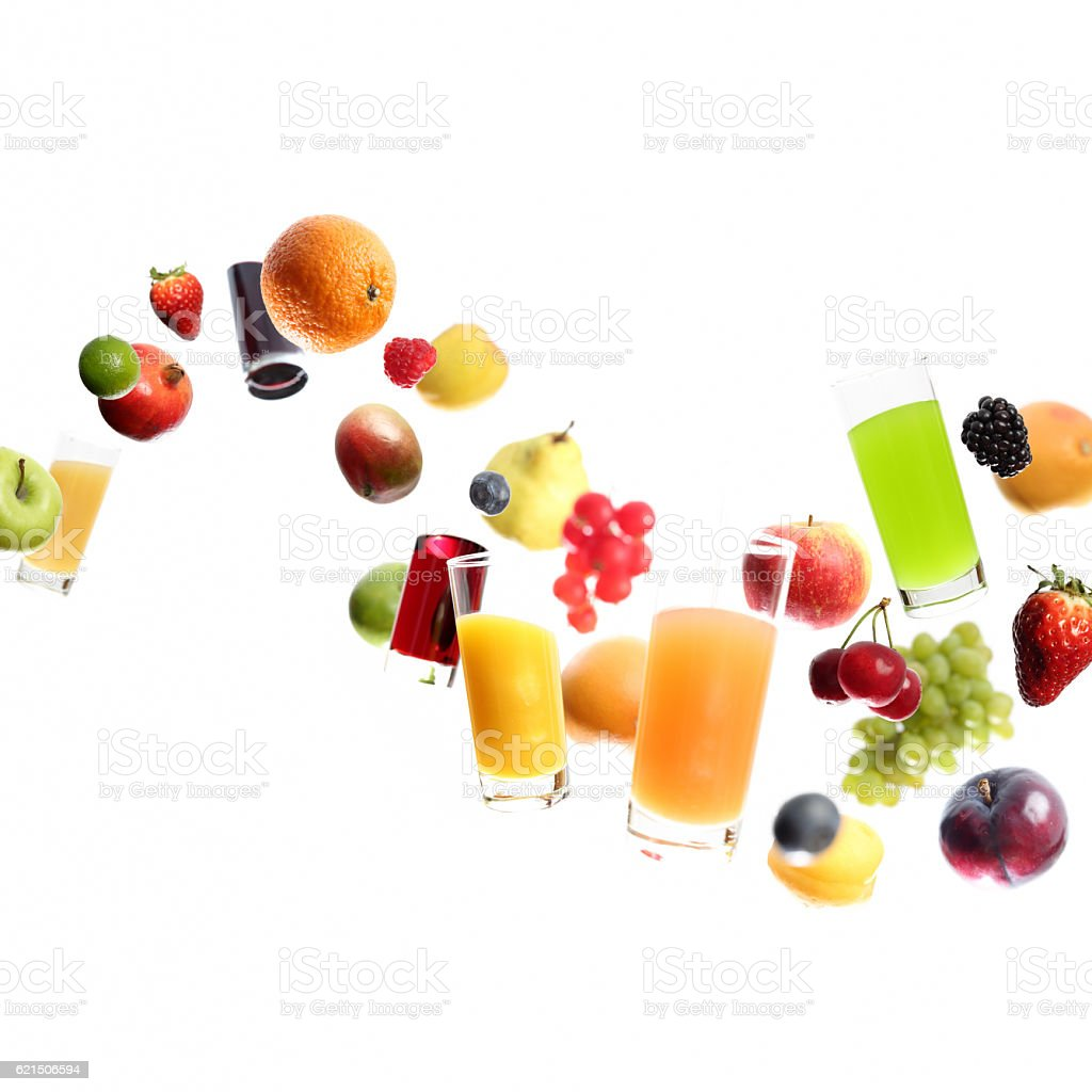 tutti juicy frutti stock photo