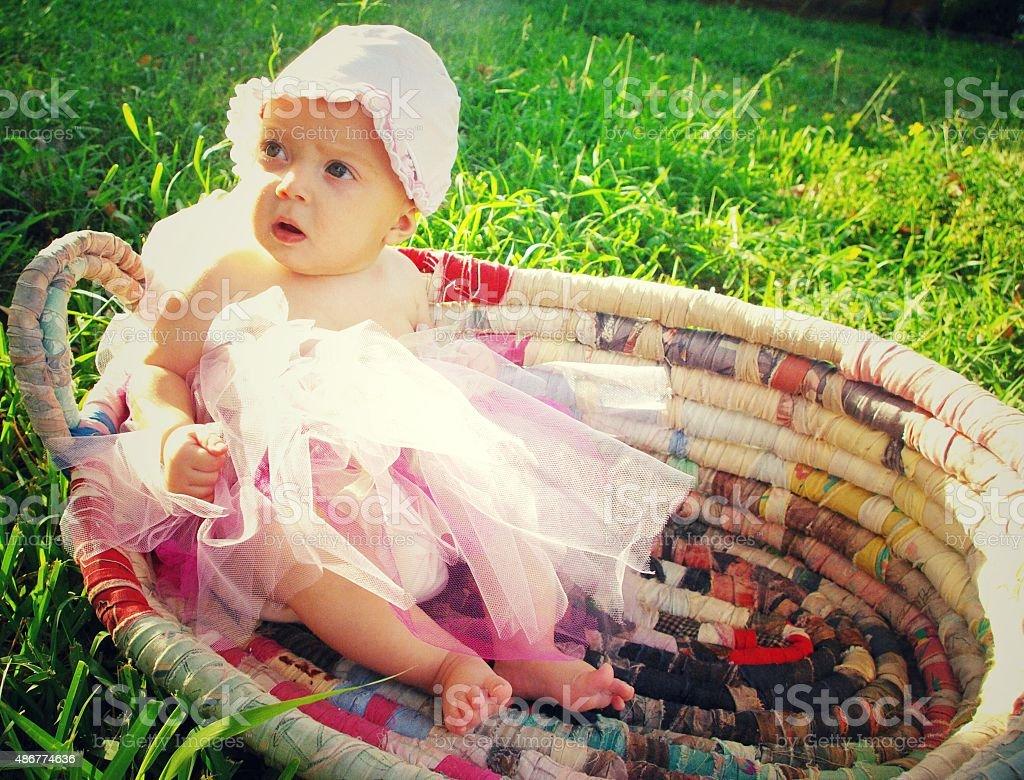 Tutu cute. Are you kidding me mom? stock photo
