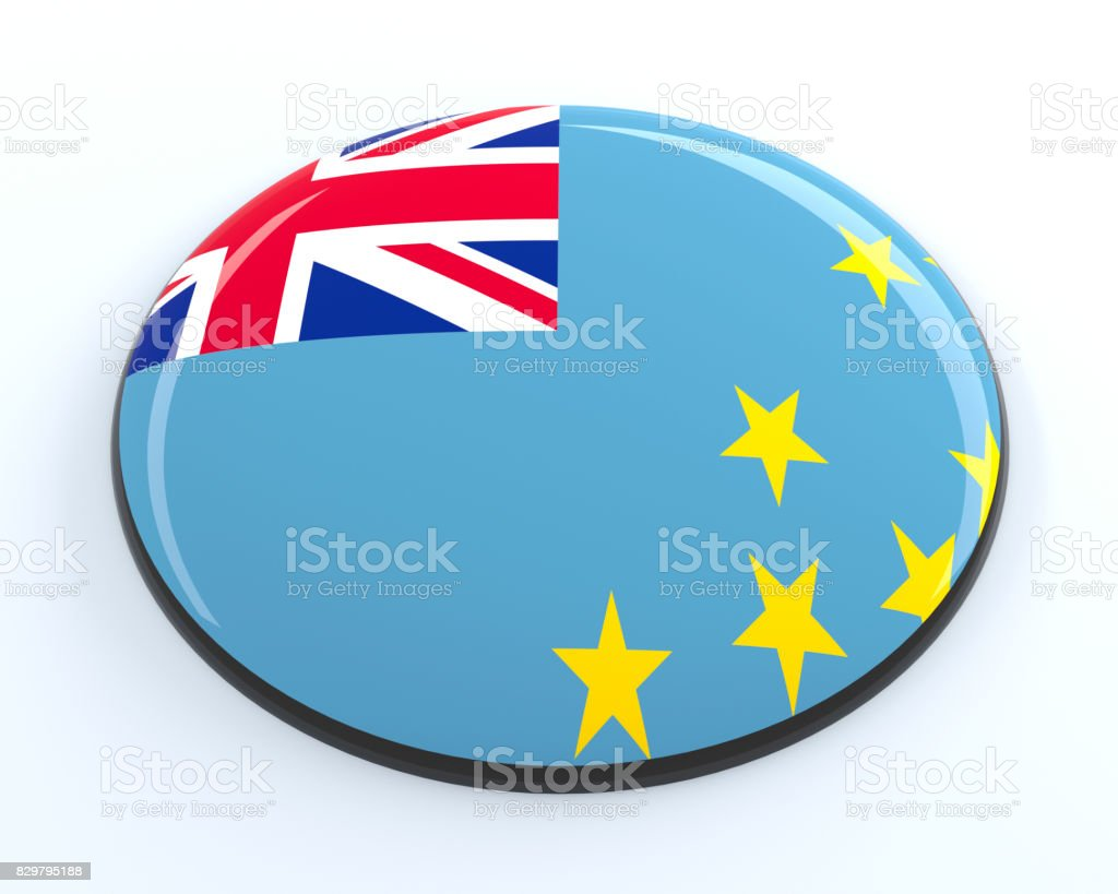 Tuvalu badge stock photo