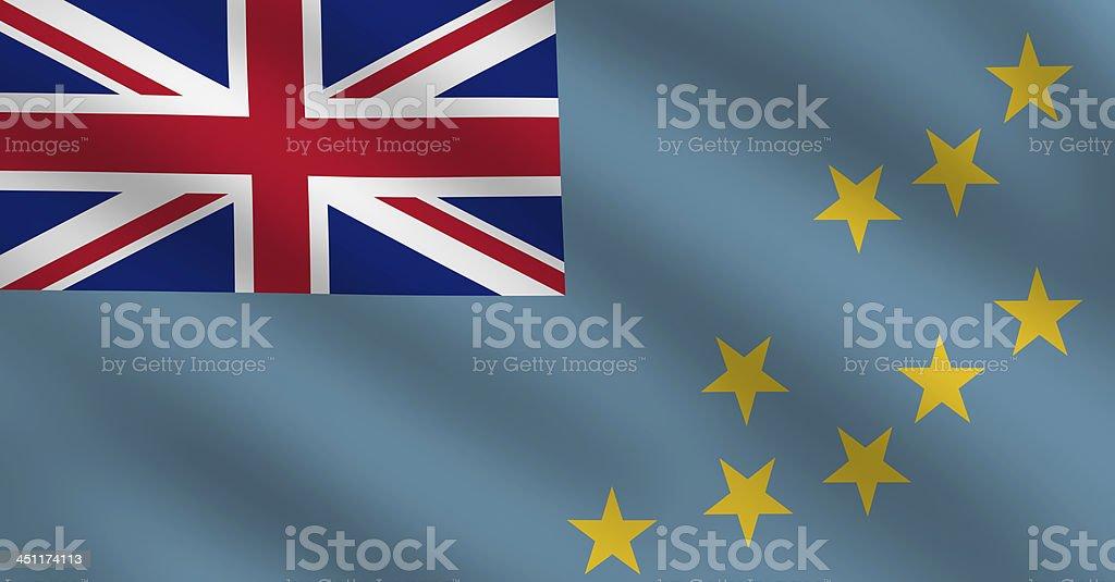 Tuvalu Flag stock photo