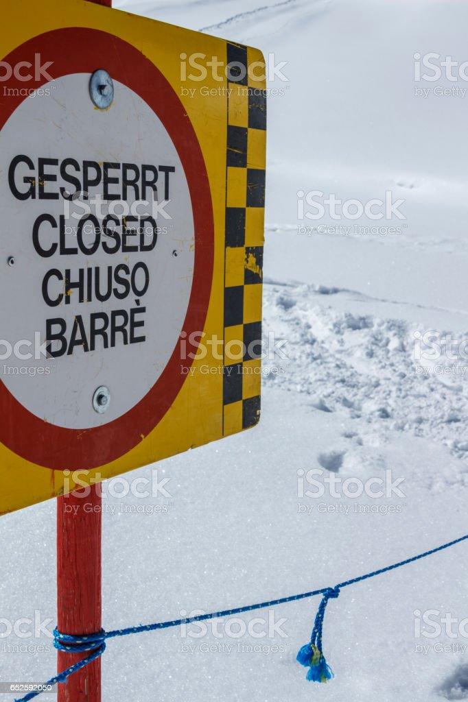 Tuxer Ferner Glacier in Austria, 2015 stock photo
