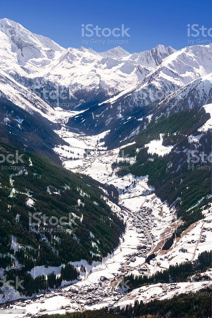 Tuxtal valley in Austrian Alps stock photo