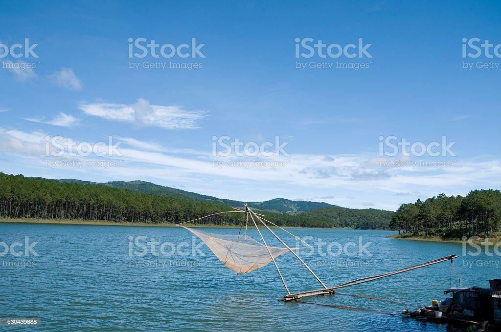 Tuyen Lam Lake, Dalat city, Vietnam stock photo