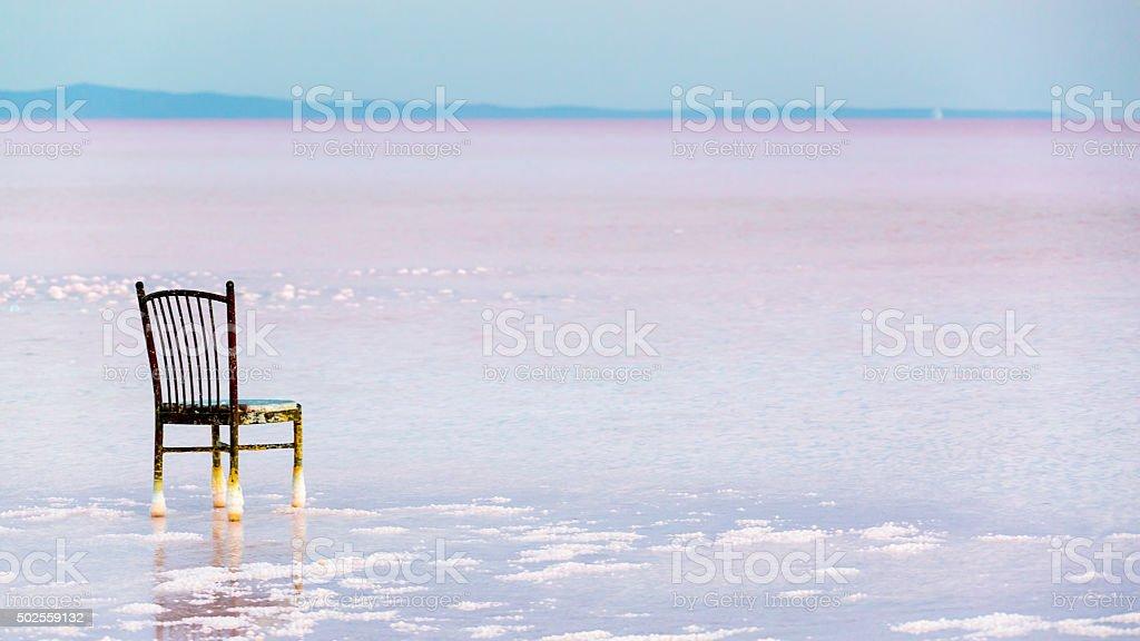 tuzgolu _ salt lake, konya stock photo