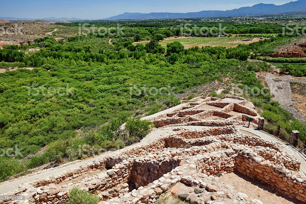 Tuzigoot National Monument stock photo