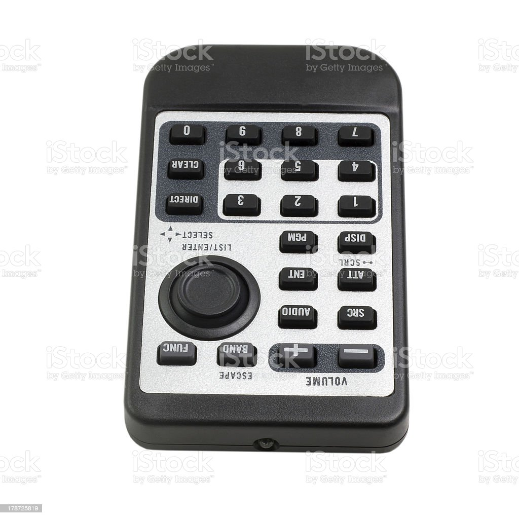 tv black remote control car radio from isolated (clipping path) royalty-free stock photo