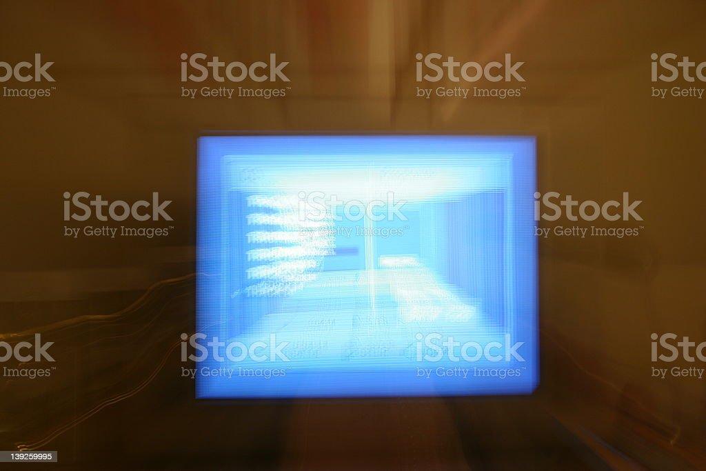 Tv blur royalty-free stock photo