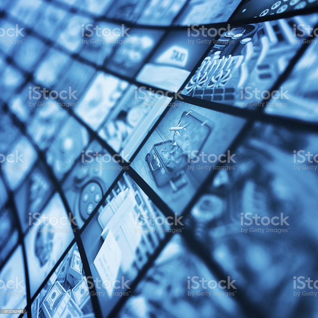 tv channels stock photo