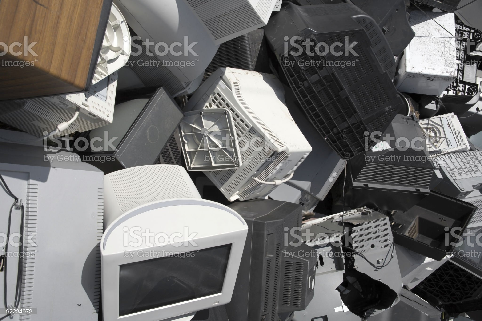 tv & computer screens - waste disposal and recycling royalty-free stock photo