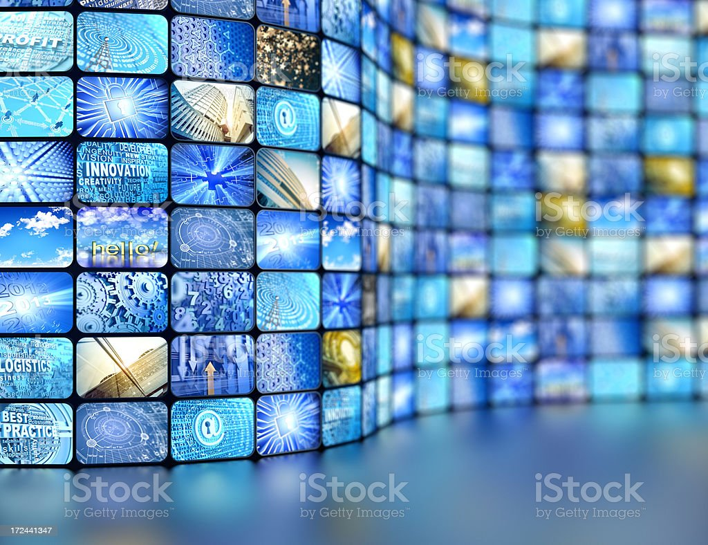 tv displays royalty-free stock photo