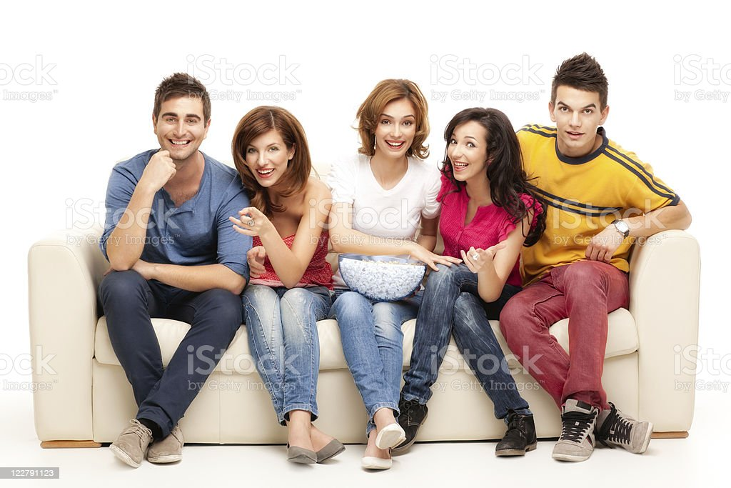 tv friends royalty-free stock photo