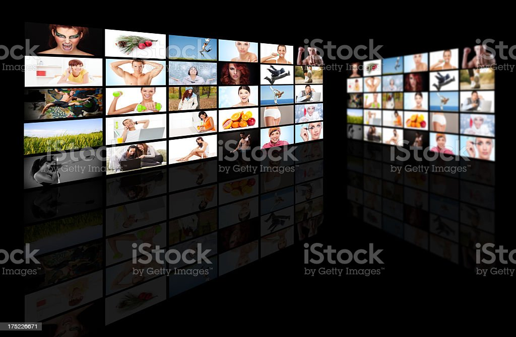 Tv media panel royalty-free stock photo