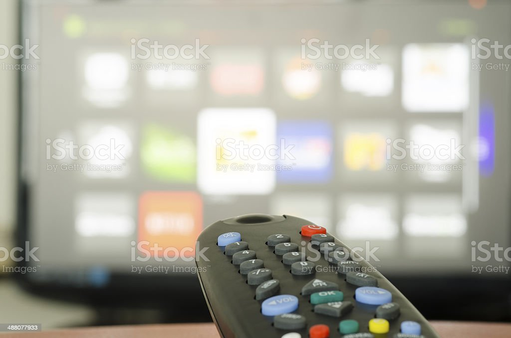 Tv remote control stock photo