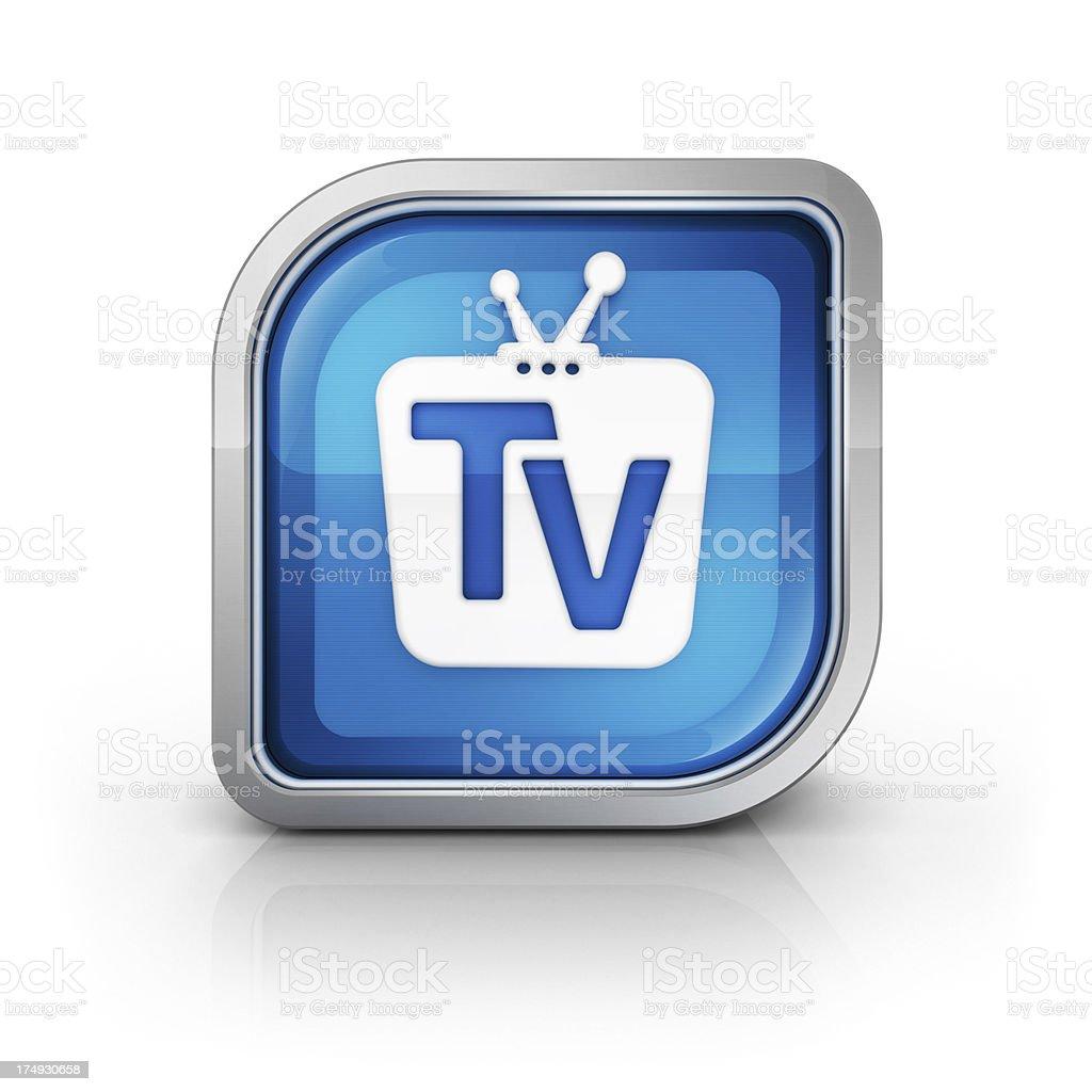 Tv service icon stock photo