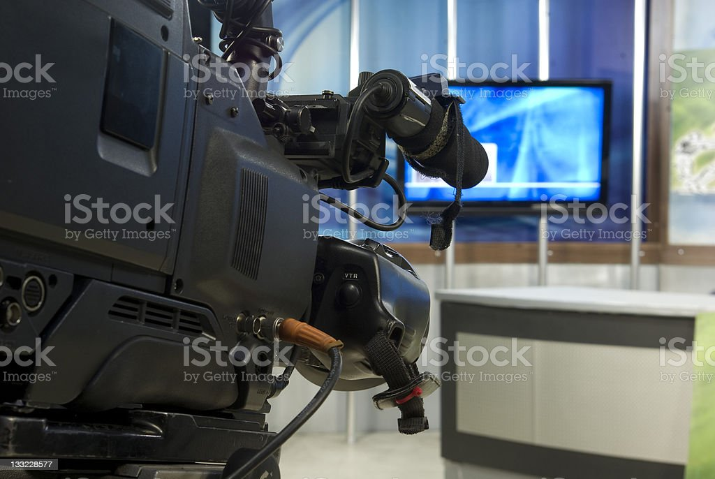 tv studio front of camera royalty-free stock photo