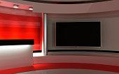 Tv Studio. News studio.