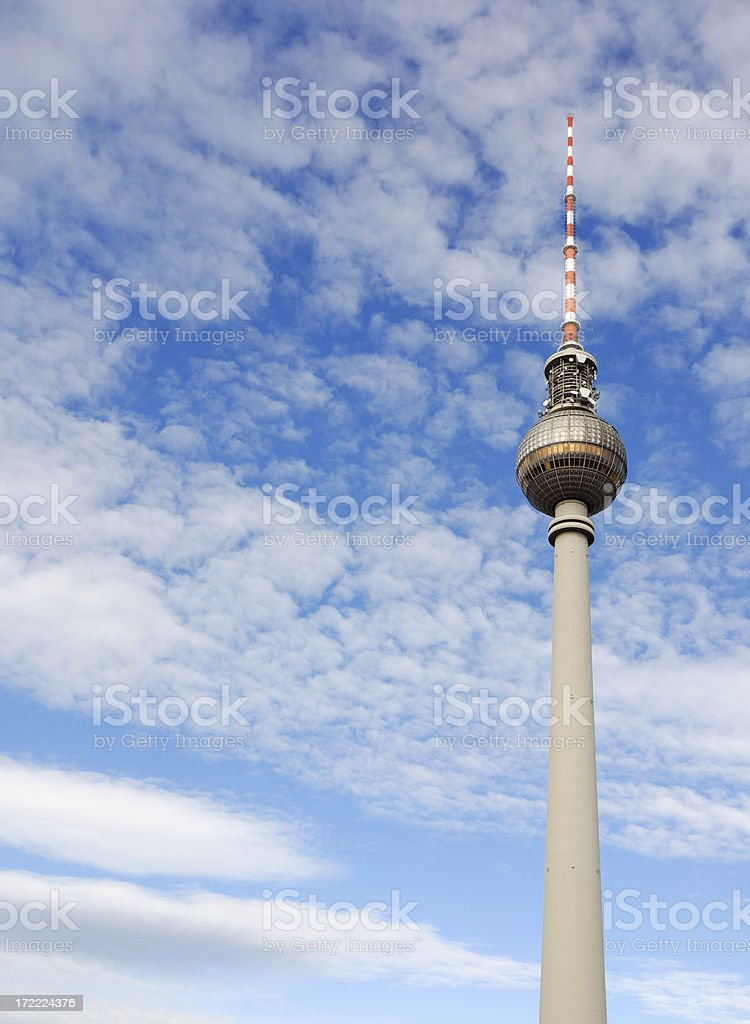 tv tower, berlin royalty-free stock photo